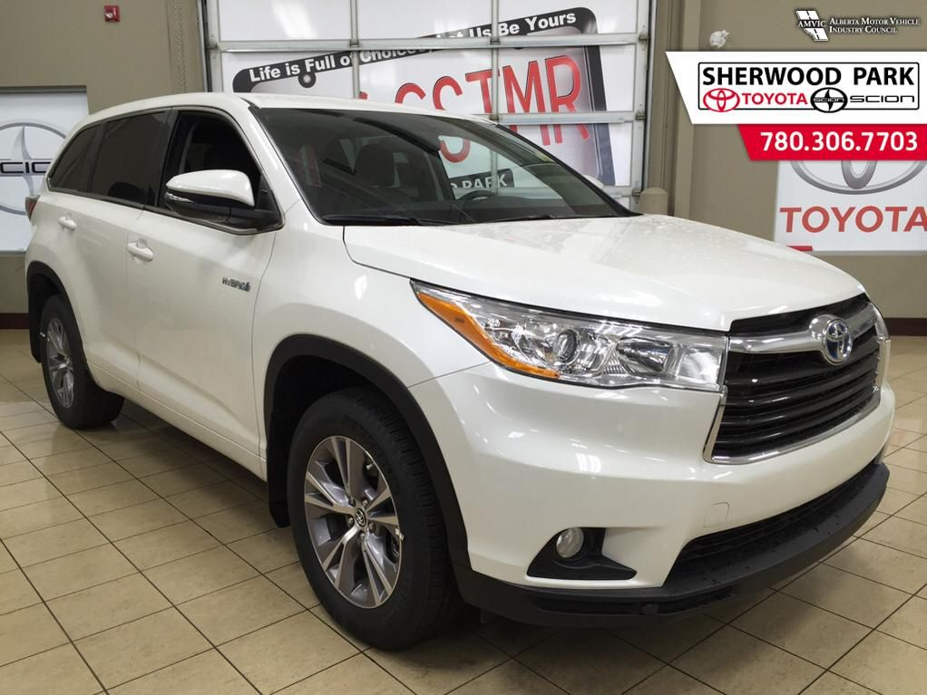new 2016 toyota highlander hybrid le 4 door sport utility in sherwood park 6hi7124 sherwood. Black Bedroom Furniture Sets. Home Design Ideas